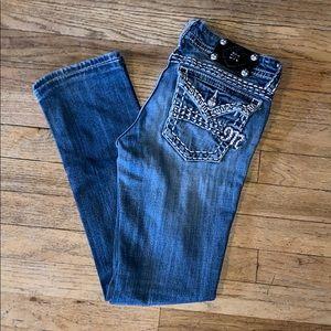 Miss Me Straight Leg Jeans - Sz 27